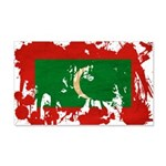 Maldives Flag 22x14 Wall Peel