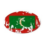 Maldives Flag 38.5 x 24.5 Oval Wall Peel