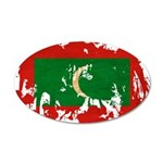 Maldives Flag 22x14 Oval Wall Peel