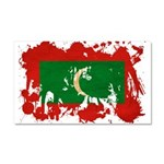 Maldives Flag Car Magnet 20 x 12