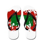 Maldives Flag Flip Flops