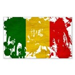Mali Flag Sticker (Rectangle 50 pk)