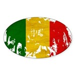 Mali Flag Sticker (Oval 10 pk)