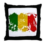 Mali Flag Throw Pillow