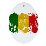 Mali Flag Ornament (Oval)