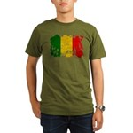 Mali Flag Organic Men's T-Shirt (dark)
