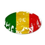 Mali Flag 22x14 Oval Wall Peel