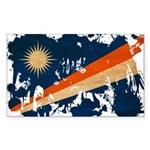 Marshall Islands Flag Sticker (Rectangle 50 pk)
