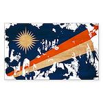 Marshall Islands Flag Sticker (Rectangle 10 pk)