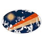Marshall Islands Flag Sticker (Oval 10 pk)