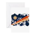 Marshall Islands Flag Greeting Cards (Pk of 20)