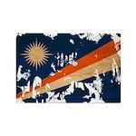Marshall Islands Flag Rectangle Magnet (100 pack)