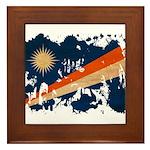 Marshall Islands Flag Framed Tile