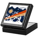 Marshall Islands Flag Keepsake Box