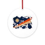 Marshall Islands Flag Ornament (Round)