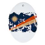 Marshall Islands Flag Ornament (Oval)