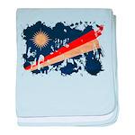 Marshall Islands Flag baby blanket