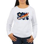 Marshall Islands Flag Women's Long Sleeve T-Shirt
