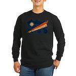 Marshall Islands Flag Long Sleeve Dark T-Shirt