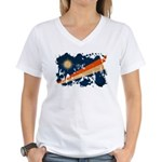 Marshall Islands Flag Women's V-Neck T-Shirt