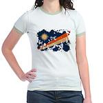 Marshall Islands Flag Jr. Ringer T-Shirt