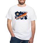 Marshall Islands Flag White T-Shirt