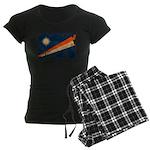Marshall Islands Flag Women's Dark Pajamas