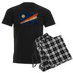 Marshall Islands Flag Men's Dark Pajamas