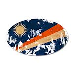 Marshall Islands Flag 38.5 x 24.5 Oval Wall Peel