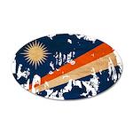 Marshall Islands Flag 22x14 Oval Wall Peel