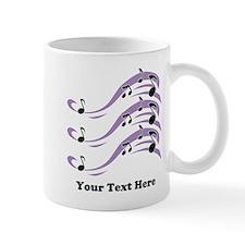 Musical Notes and Text. Mug