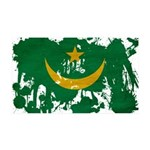Mauritania Flag 38.5 x 24.5 Wall Peel