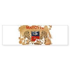Mayotte Flag Sticker (Bumper 10 pk)
