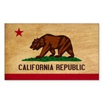 California Flag Sticker (Rectangle 50 pk)
