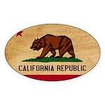 California Flag Sticker (Oval 50 pk)
