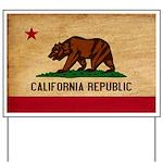 California Flag Yard Sign
