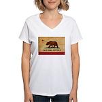California Flag Women's V-Neck T-Shirt