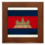 Cambodia Flag Framed Tile
