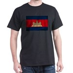 Cambodia Flag Dark T-Shirt