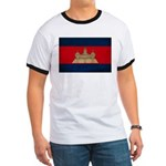 Cambodia Flag Ringer T
