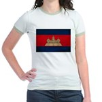 Cambodia Flag Jr. Ringer T-Shirt