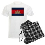 Cambodia Flag Men's Light Pajamas