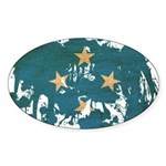 Micronesia Flag Sticker (Oval)