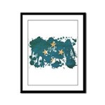 Micronesia Flag Framed Panel Print