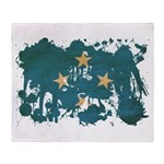 Micronesia Flag Throw Blanket