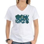 Micronesia Flag Women's V-Neck T-Shirt