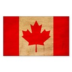Canada Flag Sticker (Rectangle 50 pk)