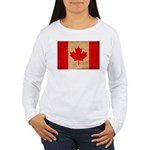 Canada Flag Women's Long Sleeve T-Shirt