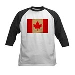 Canada Flag Kids Baseball Jersey