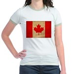 Canada Flag Jr. Ringer T-Shirt
